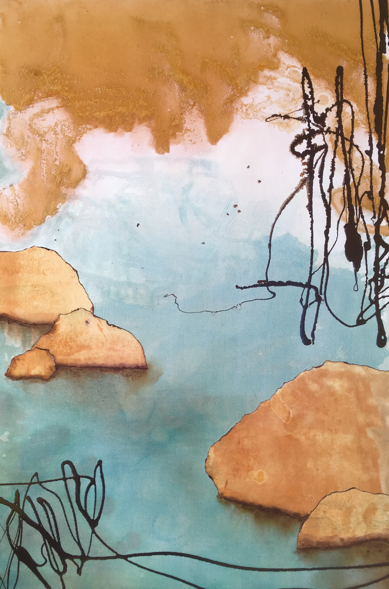(CreativeWork) Still Waters by Colleen Palmer. mixed-media. Shop online at Bluethumb.