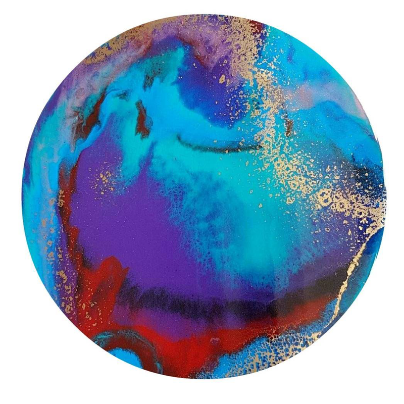 (CreativeWork) Synchronicity  by Rachel R. Wright. resin. Shop online at Bluethumb.