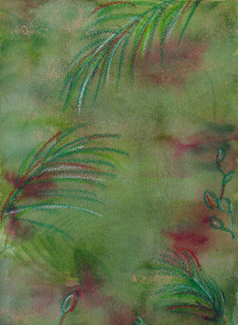 (CreativeWork) Rainforest Magic 1 by Jazmin Wilkins. mixed-media. Shop online at Bluethumb.