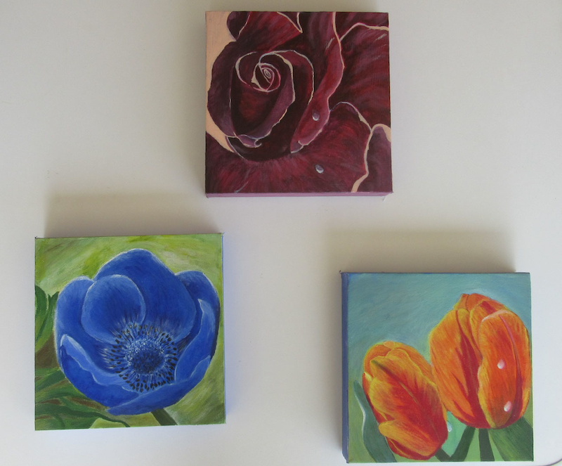 (CreativeWork) Just flowers by Svetlana Cook. arcylic-painting. Shop online at Bluethumb.
