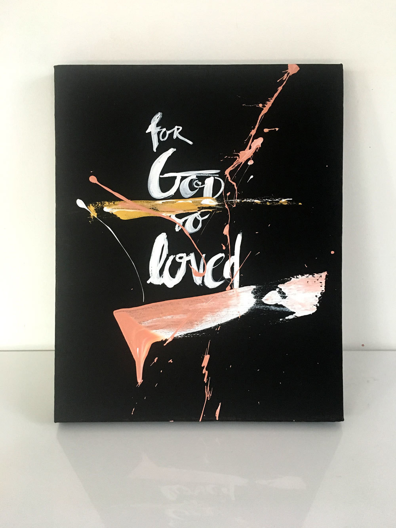 (CreativeWork) For God So Loved by Tim Christinat. acrylic-painting. Shop online at Bluethumb.
