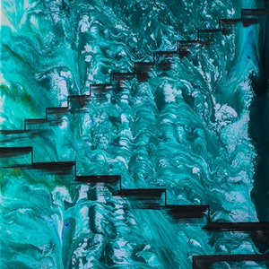 (CreativeWork) Stairs by Debora Vecchi. mixed-media. Shop online at Bluethumb.