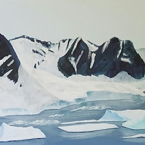 (CreativeWork) Antarctica by Helen Saint-Smith. acrylic-painting. Shop online at Bluethumb.