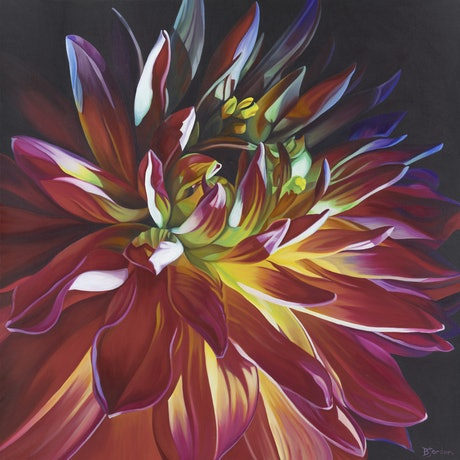 (CreativeWork) Entice by Bernadette Jordan. Acrylic Paint. Shop online at Bluethumb.