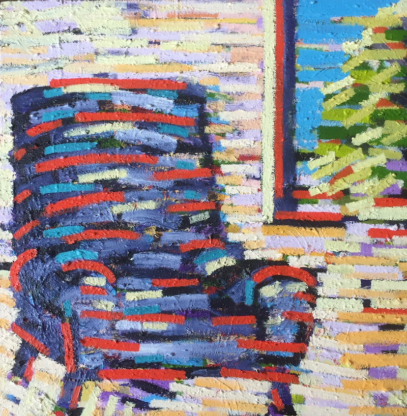 (CreativeWork) Chair  by D.M. (David Martin) Ross. oil-painting. Shop online at Bluethumb.
