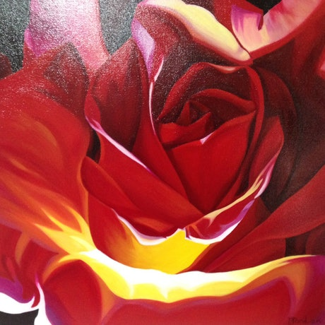 (CreativeWork) Twin Flame by Bernadette Jordan. Acrylic Paint. Shop online at Bluethumb.