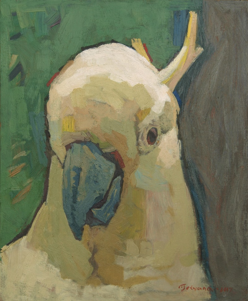 portraiture of mr white cockatoo by tetyana khytko paintings for