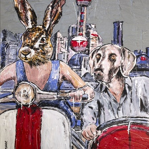(CreativeWork) They always ride together in Shanghai by Gillie and Marc Schattner. print. Shop online at Bluethumb.