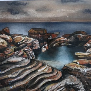 (CreativeWork) Rockpools  by Lisa Hearl. other-media. Shop online at Bluethumb.