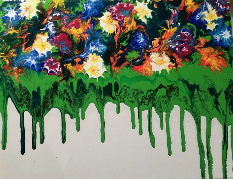 (CreativeWork) Garden by Lucia Pilotto. arcylic-painting. Shop online at Bluethumb.