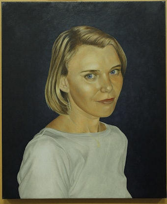 (CreativeWork) Danielle. by Laurie McMurray. Oil Paint. Shop online at Bluethumb.