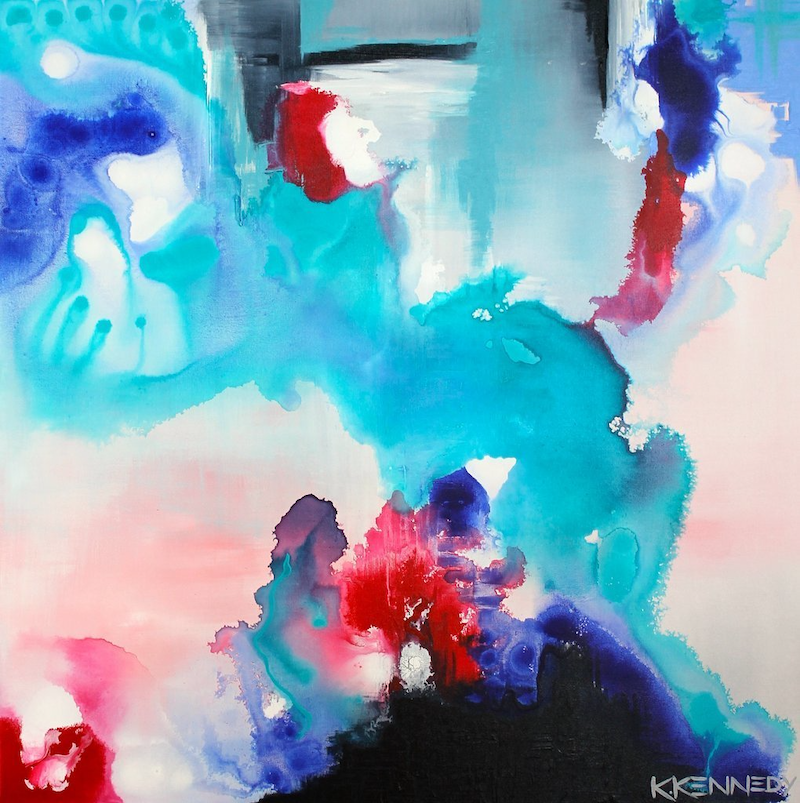 (CreativeWork) Enigmatic by Kate Kennedy. arcylic-painting. Shop online at Bluethumb.