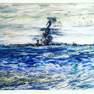 (CreativeWork) Sea Warrior by Vanessa Boll Armstrong. arcylic-painting. Shop online at Bluethumb.