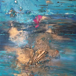 (CreativeWork) Ocean feels by Vanessa Boll Armstrong. arcylic-painting. Shop online at Bluethumb.