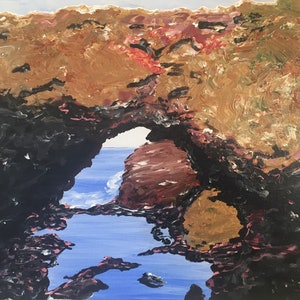 (CreativeWork) The Grotto by Peter Malcolm. acrylic-painting. Shop online at Bluethumb.