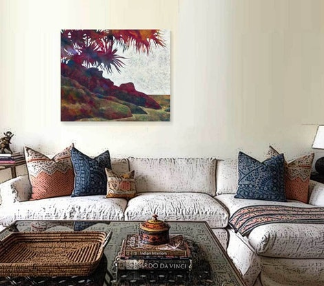 (CreativeWork) Secluded Beach by Karyn Fendley. Acrylic Paint. Shop online at Bluethumb.