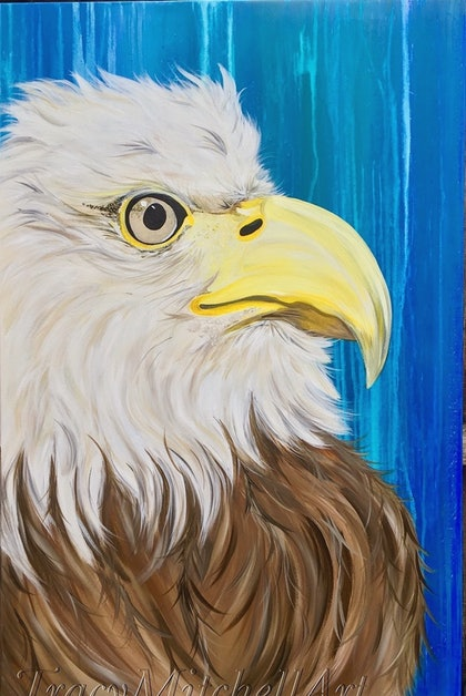 (CreativeWork) Ramjet by Tracy Mitchell. arcylic-painting. Shop online at Bluethumb.