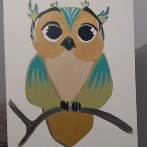 (CreativeWork) What a hoot! by Stacey Turner. arcylic-painting. Shop online at Bluethumb.