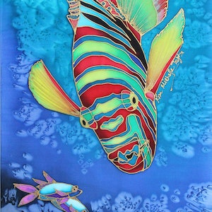 (CreativeWork) Tusk Fish Descending by Kim Michelle Toft. other-media. Shop online at Bluethumb.