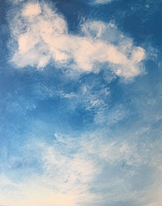 (CreativeWork) WINDOW TO THE SKY by April Lockwood. Acrylic Paint. Shop online at Bluethumb.