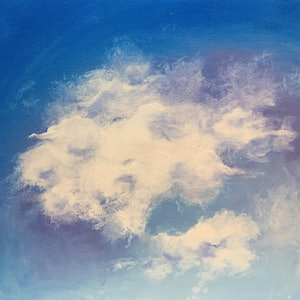 (CreativeWork) PASTEL SKIES - VIOLET - REDUCED TO SELL WAS  $129  NOW $100 by April Lockwood. arcylic-painting. Shop online at Bluethumb.