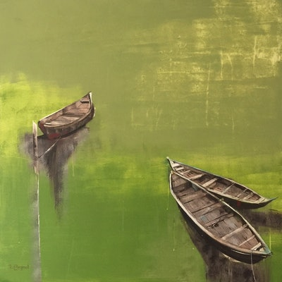 (CreativeWork) From The River Bank by Rosa d'Argent. Acrylic Paint. Shop online at Bluethumb.