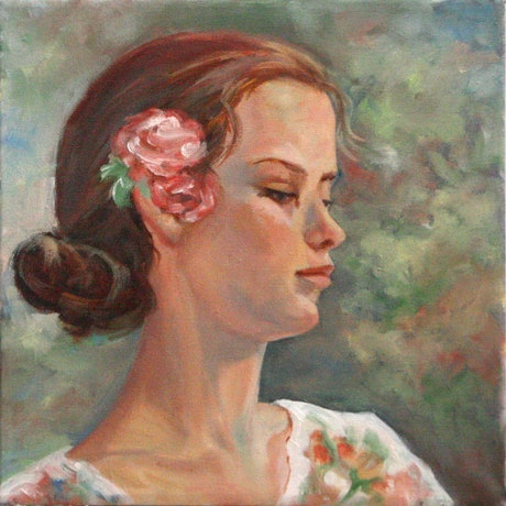 (CreativeWork) Day Dreamer by Lesley Shelley. Oil Paint. Shop online at Bluethumb.