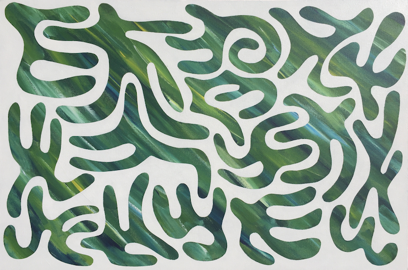 (CreativeWork) Life In The Forest 1 by Derek Mollison. Acrylic Paint. Shop online at Bluethumb.