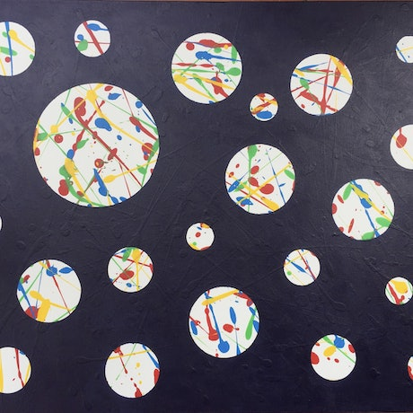 (CreativeWork) Under The Microscopes 1 by Derek Mollison. Acrylic Paint. Shop online at Bluethumb.