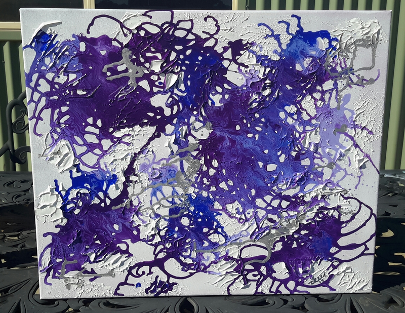 (CreativeWork) Purple Rain   by DRM Vance. mixed-media. Shop online at Bluethumb.