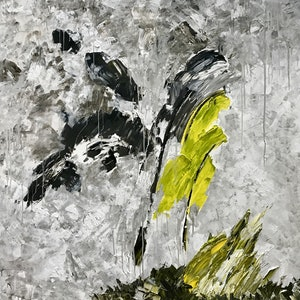 (CreativeWork) Antarctica Abstracted by GRAHAM JONES. arcylic-painting. Shop online at Bluethumb.