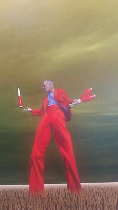 (CreativeWork) Clowning Around by James Robertson. Oil Paint. Shop online at Bluethumb.