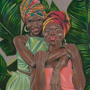 (CreativeWork) 'Isata and Mariama' Limited Edition Print 1/25 by Tamara Armstrong. Print. Shop online at Bluethumb.