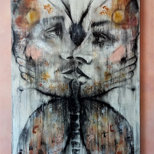 """(CreativeWork) """" BUTTERFLY EFFECT """" by Artjom Kesvatera. mixed-media. Shop online at Bluethumb."""