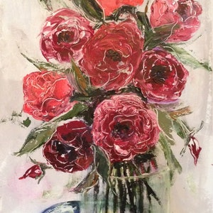 (CreativeWork) Blooming beauty by Anita Parker. acrylic-painting. Shop online at Bluethumb.
