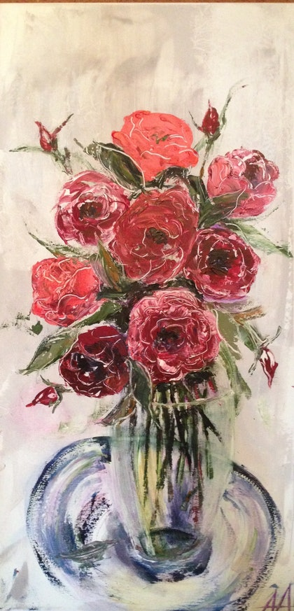 (CreativeWork) Blooming beauty by Anita Parker. arcylic-painting. Shop online at Bluethumb.