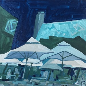 (CreativeWork) Fed square by Sharon Monagle. arcylic-painting. Shop online at Bluethumb.