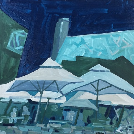 (CreativeWork) Fed square by Sharon Monagle. Acrylic Paint. Shop online at Bluethumb.