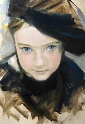 (CreativeWork) Little Dorrit  by Chris Martin. Oil Paint. Shop online at Bluethumb.