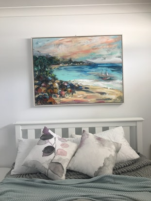 (CreativeWork) Tranquil Waters by Ann Rayment. Acrylic Paint. Shop online at Bluethumb.