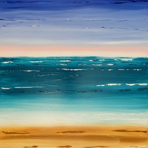 (CreativeWork) Burleigh Beach by Ronan Holdsworth. arcylic-painting. Shop online at Bluethumb.
