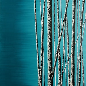 (CreativeWork) Perisher trees by Ronan Holdsworth. arcylic-painting. Shop online at Bluethumb.