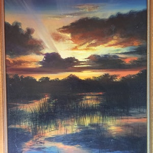 "(CreativeWork) TRANQUIL WATERS by Bruce ""Notty"" Notman. oil-painting. Shop online at Bluethumb."