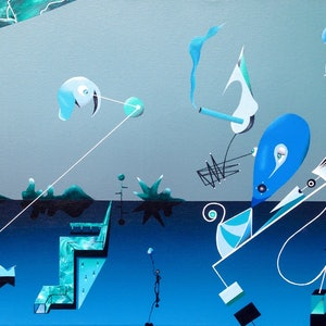 (CreativeWork) Reality detachment  by Paddy Duggan. arcylic-painting. Shop online at Bluethumb.