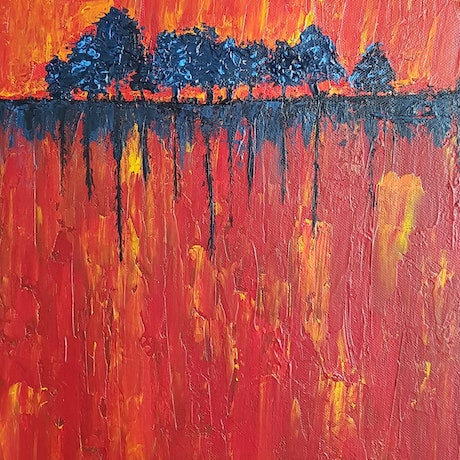 (CreativeWork) Fire of Existence by Negin Naderi. Acrylic Paint. Shop online at Bluethumb.