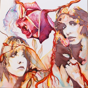 (CreativeWork) Stevie Nicks -The Poet in Her Heart by Richard Roper. mixed-media. Shop online at Bluethumb.