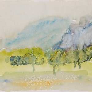 (CreativeWork) Scape 2 by Robert Vallance. watercolour. Shop online at Bluethumb.