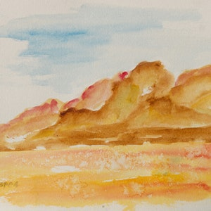 (CreativeWork) Scape 4 by Robert Vallance. watercolour. Shop online at Bluethumb.