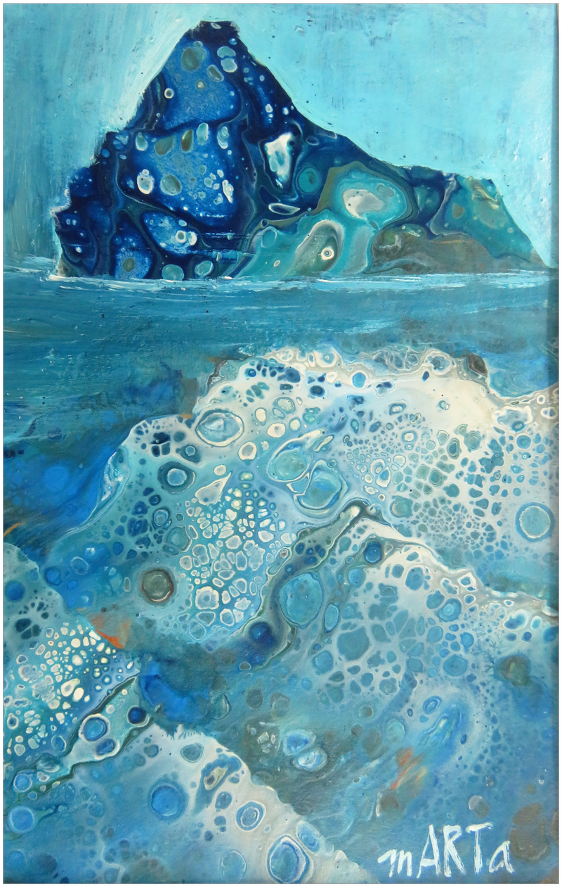 (CreativeWork) Iceberg by Marta Blaszak-Just. Acrylic Paint. Shop online at Bluethumb.