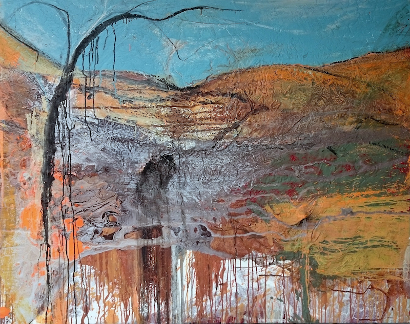 (CreativeWork) Wanderer by William Holt. Acrylic Paint. Shop online at Bluethumb.